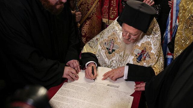 Bartholomeos'tan Ukrayna Ortodoks Kilisesi'ne 'bağımsızlık' kararnamesi