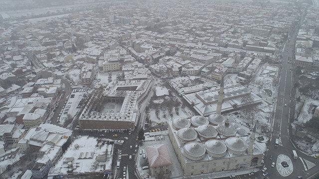 Edirne'de kar etkisini gösterdi.