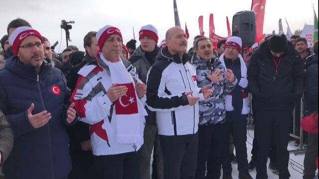 Sarıkamış şehitlerini anmak için binlerce kişi toplandı