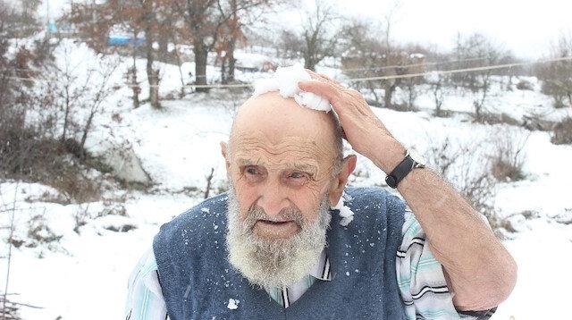 91 yaşındaki Şerif amca: Vücudum ateş gibi yanıyor