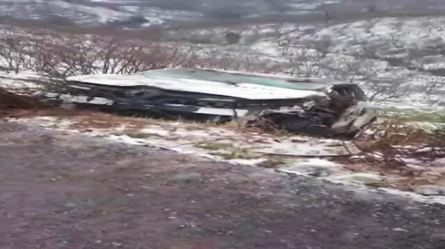 Halat kopunca araç uçuruma yuvarlandı