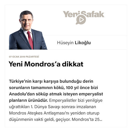 Yeni Mondros'a dikkat