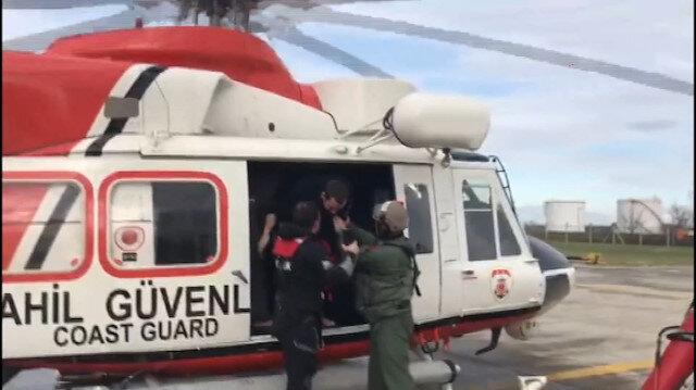 Kurtarılan 4 mürettebat Samsun Havalimanına getirildi
