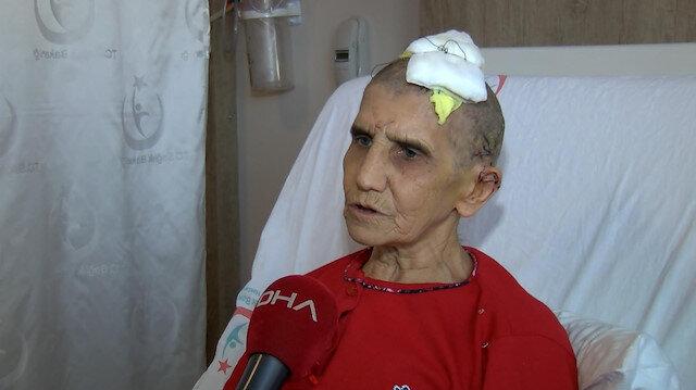 Köpek saldırısında kafa derisi yüzülen kadın o anları anlattı