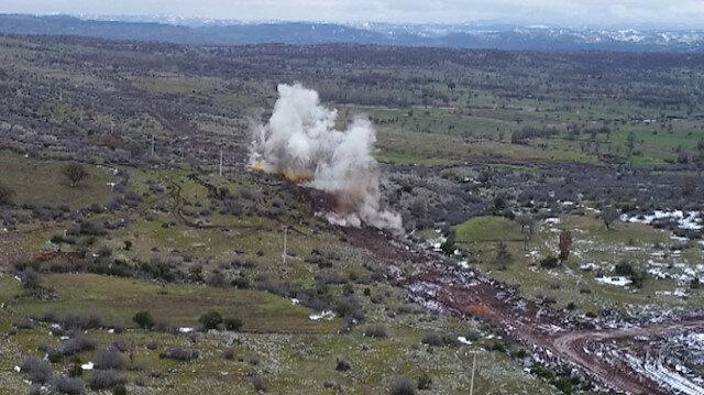OSB alanında dinamit patlatıldı karayolu ulaşıma kapatıldı