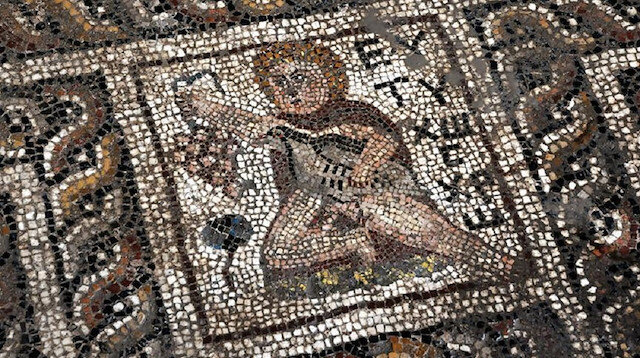 Ancient mosaics were discovered by construction workers in southern Osmaniye province on Monday.