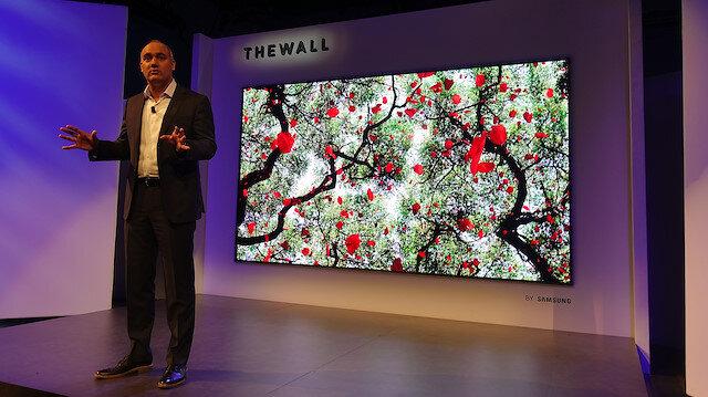 Samsung CES 2019'da yeni duvar ekranını tanıttı