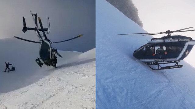 Yaralanan kayakçı film gibi operasyonla kurtarıldı