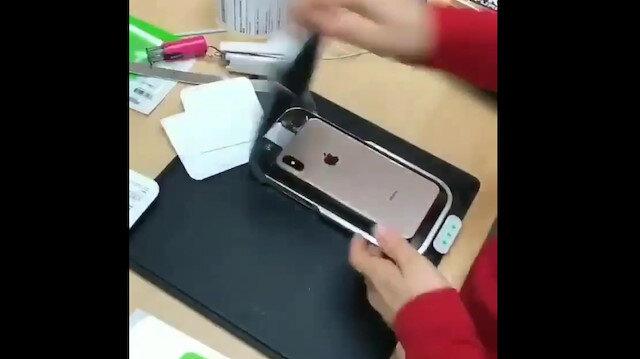 Ekran koruyucu uygulama makinesi