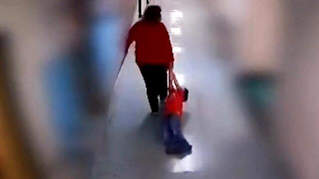 Acımasız öğretmen otizmli çocuğu yerde sürükledi