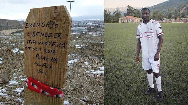 Hristiyan futbolcunun mezar taşına Ruhuna Fatiha yazdılar