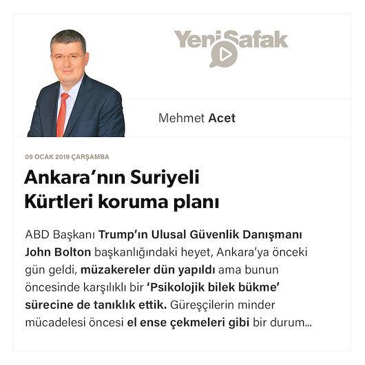 Ankara'nın Suriyeli Kürtleri koruma planı