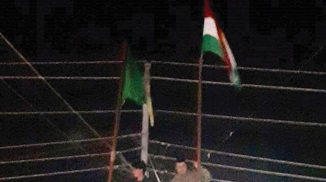 Barzani ve Talabani taraftarları şehrin geneline korsan bayraklar astı.