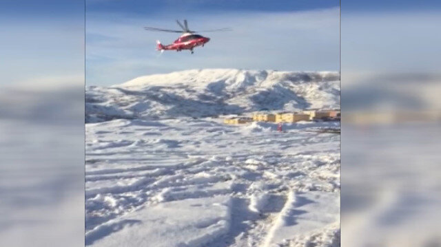 73 yaşındaki hasta ambulans helikopterle kurtarıldı