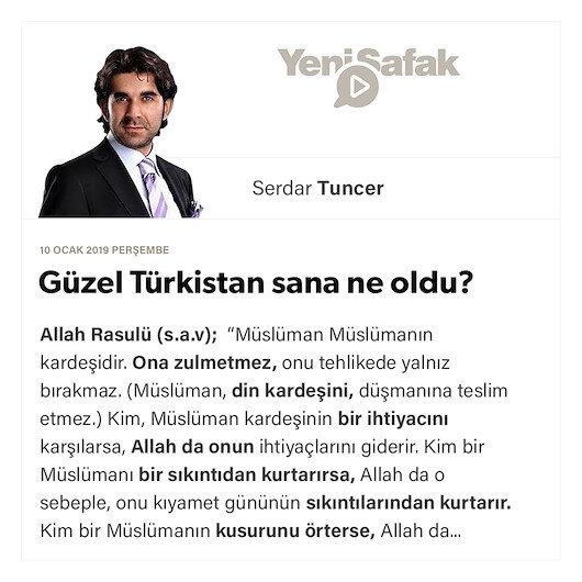 Güzel Türkistan sana ne oldu?