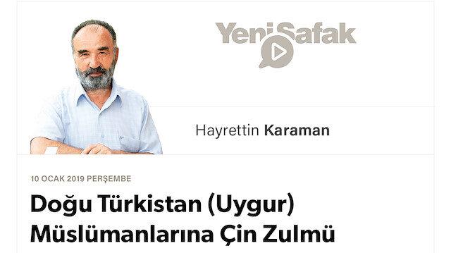 Doğu Türkistan (Uygur) Müslümanlarına Çin Zulmü