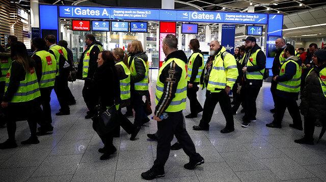 Almanya'daki grev 600'den fazla uçuşu etkiledi