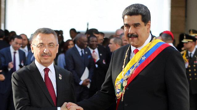 Venezuela Cumhurbaşkanı Maduro ve Cumhurbaşkanı Yardımcısı Fuat Oktay