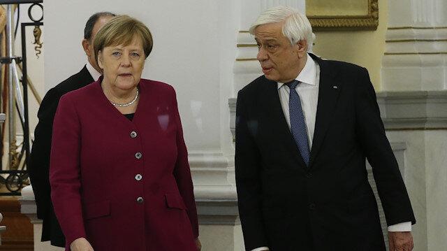 German Chancellor Angela Merkel in Athens