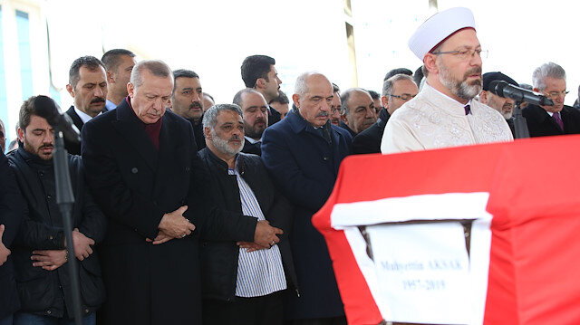 Cumhurbaşkanı Erdoğan Muhyettin Aksak'ın cenaze törenine katıldı