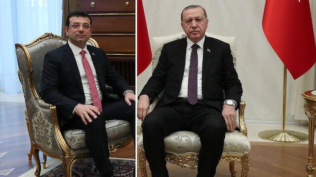 Cumhurbaşkanı Erdoğan, Ekrem İmamoğlu'nu kabul etti.