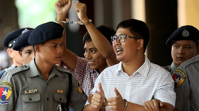 File photo: Detained Reuters journalist Wa Lone and Kyaw Soe Oo