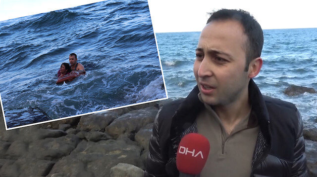 Denize düşen kadını kahraman komutan böyle kurtardı