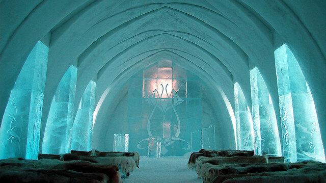 Dünyanın en sıradışı buzdan oteli