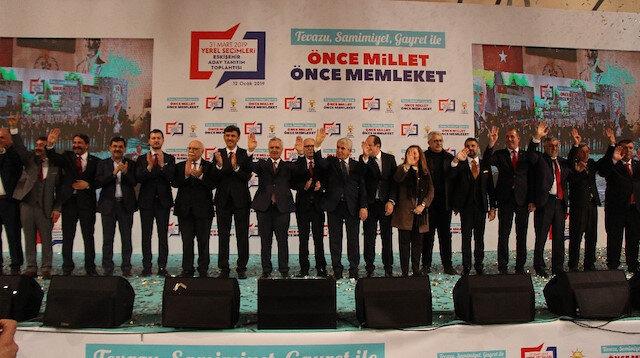 14 ilçe belediye başkan adayı düzenlenen törenle tanıtıldı.