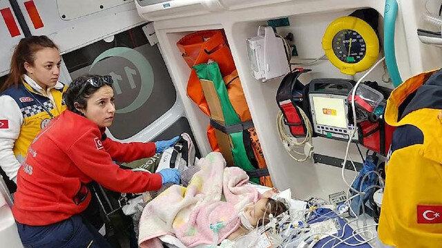 Kayseri'de tedaviye alınan küçük çocuğun durumu ciddiyetini koruyor.