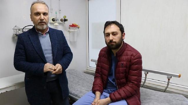 Acil Tıp Asistanı Dr. Hüseyin Tufan Yanık, başka bir hastaneye giderek darp raporu aldı.