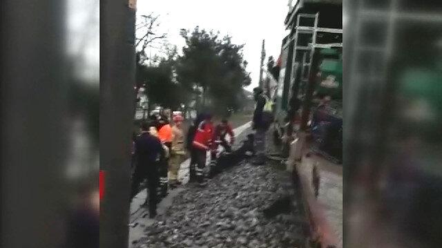 Tren kazasından hemen ardından çekilen görüntülere ulaşıldı