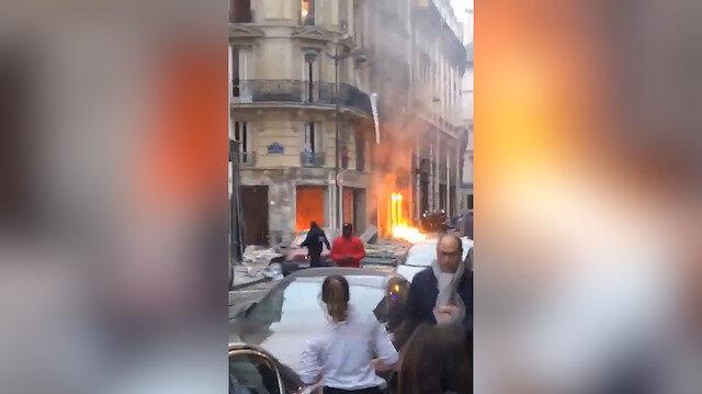 Paris'teki patlamadan görüntüler gelmeye devam ediyor