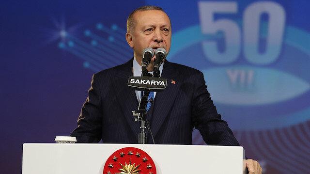 Cumhurbaşkanı Erdoğan, temel atma töreninde konuştu.