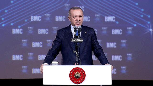 Erdoğan: Savunma sanayindeki gücümüz yüzde 20'lerden yüzde 68'e ulaştı