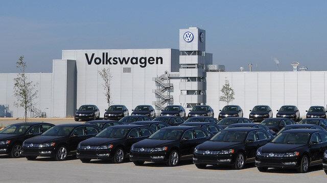 Volkswagen'in ABD'deki fabrikasının otoparkı.