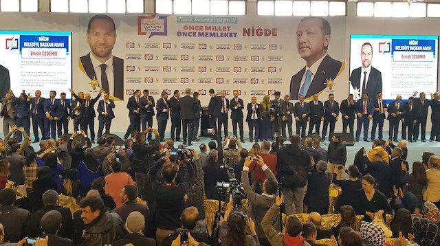 AK Parti'nin Niğde belediye başkan adayları törenle tanıtıldı
