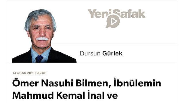 Ömer Nasuhi Bilmen, İbnülemin Mahmud Kemal İnal ve Ord. Prof. Sıddık Sami Onar
