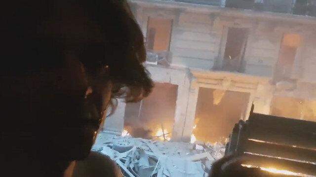 Paristeki patlamadan yaralı kurtulan vatandaş o anları kaydetti