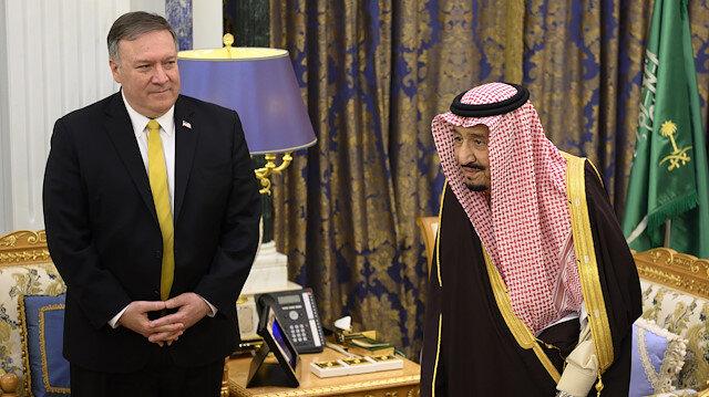 ABD Dışişleri Bakanı Mike Pompeo, Kral Selman'la bir araya geldi.