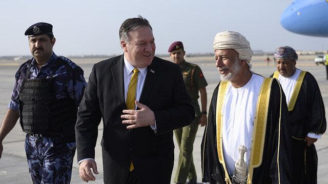 ABD Dışişleri Bakanı  Pompeo'nun son durağı Umman oldu.