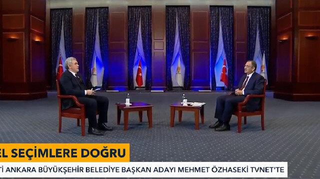 Ankara Büyükşehir Belediye Başkan Adayı Mehmet Özhaseki TVNET'te