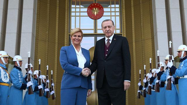 Arşiv: Erdoğan ile mevkidaşı Kitarovic.