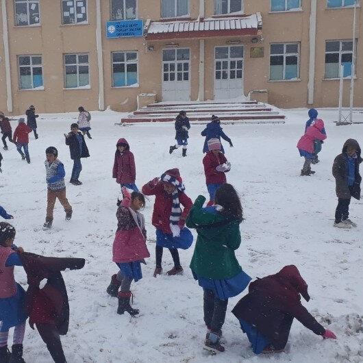 Tokat'ta eğitime kar engeli
