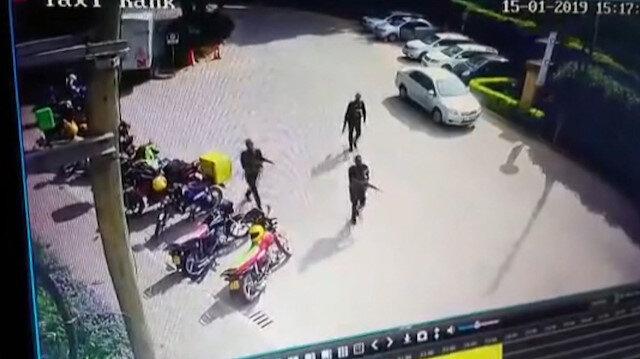 Kenya'da silahlı saldırganların otele baskın anları