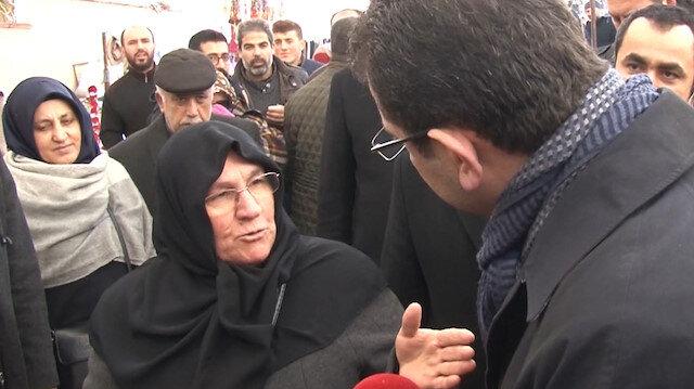 Yaşlı kadından Ekrem İmamoğlu'na: CHP ile iş olmaz