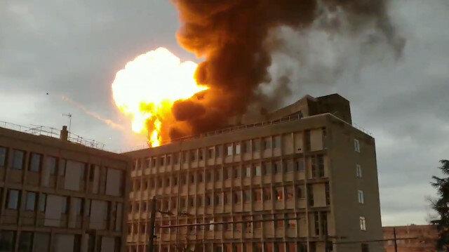 Fransa'daki patlama anı