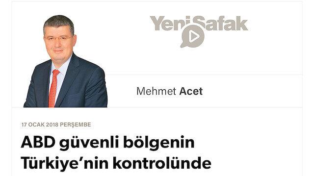 ABD güvenli bölgenin Türkiye'nin kontrolünde olmasına rıza gösterir mi?