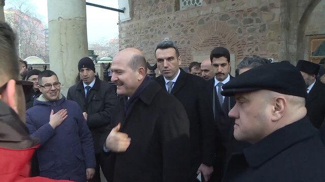 İçişleri Bakanı Soylu cuma namazını Bulgaristan'da kıldı