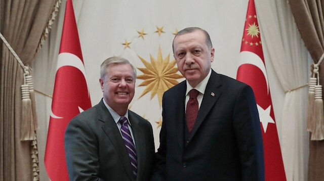 Turkish President Erdoğan receives US Sen. Graham in Ankara